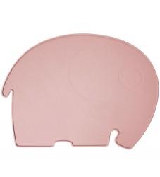 Sebra Dækkeserviet - Silikone - Blossom Pink Elefant
