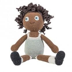 Sebra hæklet dukke - Lilly