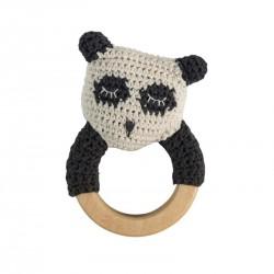 Sebra hæklet rangle, panda på træring