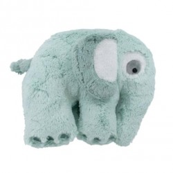 Sebra plysdyr elefant - Lagoon Blue