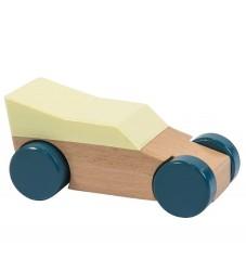 Sebra Trælegetøjsbil - Gul