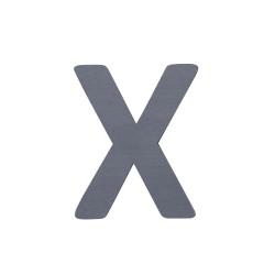 Sebra X - Træbogstav - Grå