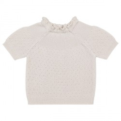 Selana K/Æ Sweater Bomuld - Dune