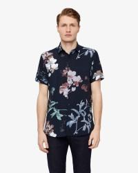 Selected Wovis-sun kortærmer skjorte