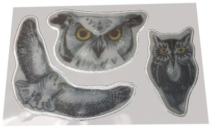 Selvklæbende 3M reflekser fra Softreflector - Owls