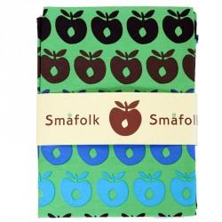 Sengetøj fra Småfolk - Multiæble - Grøn m. turkis