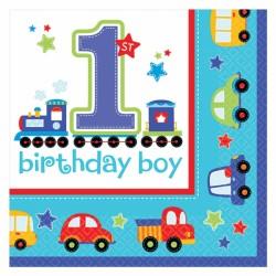 Servietter - 1 års fødselsdag - Birthday Boy (16 stk)