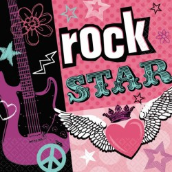 Servietter - Rock Star (16 stk)