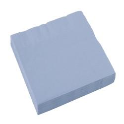 Servietter - Støvet blå (20 stk)