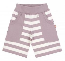 Shorts i rosa og hvide striber af økologisk bomuld