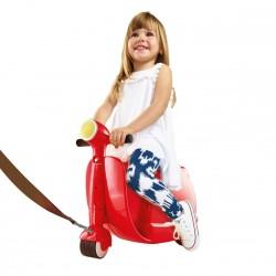 Skoot 2-i-1 Trolley Kuffert og køretøj med hjul til børn, Rød