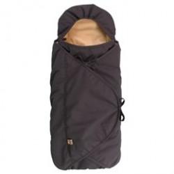 Sleepbag kørepose til autostolen - Bycar - Sort/brun