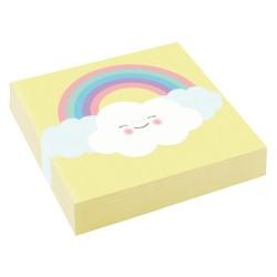 Små servietter - Rainbow & Cloud (20 stk)