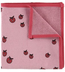 Småfolk Håndklæde - 70x140 - Rosa m. Æbler