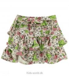 Småfolk Nederdel - Pudder m. Blomster/Jordbær