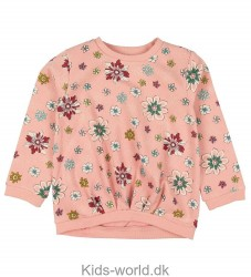Small Rags Bluse - Rosa m. Blomster