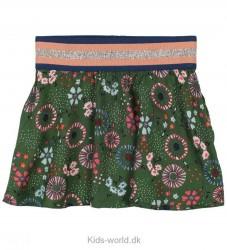 Small Rags Nederdel - Grøn m. Blomster/Glitter