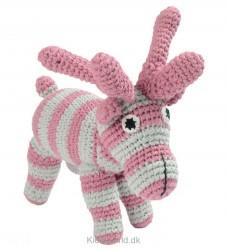 Smallstuff Bamse - Elg - Pink/Lysegrå