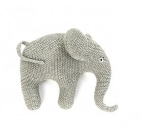 Smallstuff bamse, strikket elefant, grå