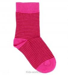 SmallStuff Strømper - Pink m. Røde striber