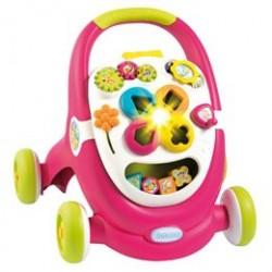 Smoby gåvogn med aktivitet - Cotoons Walker 2-in-1 - Pink