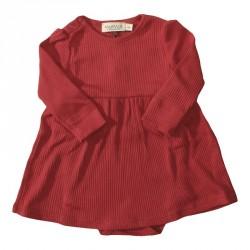 Smuk rød julekjole/body til de mindste fra MarMar