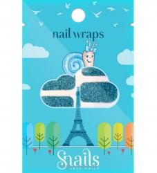 Snails Wrap - Turquoise
