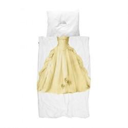 SNURK prinsesse sengetøj GUL 140 x 200 cm