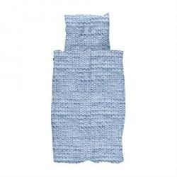 SNURK Twirre Blå Strik sengetøj 140 x 200 cm