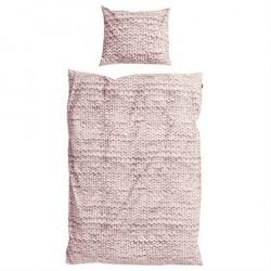 SNURK Twirre Rosa Strik sengetøj Almindelig bomuld 140 x 200 cm