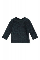 Soft Gallery Baby Astin Badebluse - Orion Blue, AOP Owl