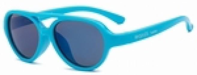 Solbrille m. Flex Fit fra Real Shades - SKY - Neon-blå