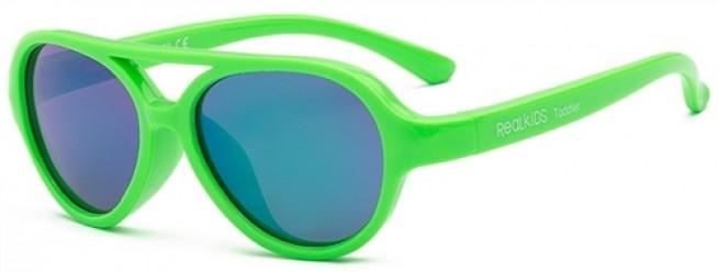 Solbrille m. Flex Fit fra Real Shades - SKY - Neon-grøn
