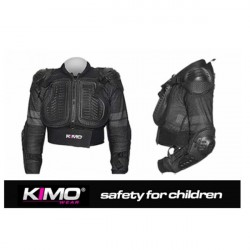 Sort beskyttelsesjakke for børn til motocross og ATV kørsel - Str. S