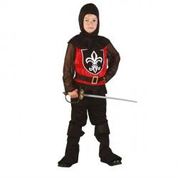 Sort Ridder Kostume med Udstyr