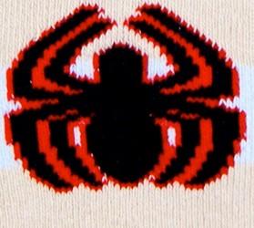 SPIDER-MAN, strømper, tykke, lyseblå og sand stribet