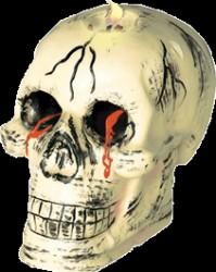 Spøgelse - Dødningehoved lys m/ blod