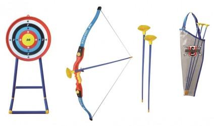 Sport1 Bue Kæmpe sæt med bue, pille og skydeskive til børn