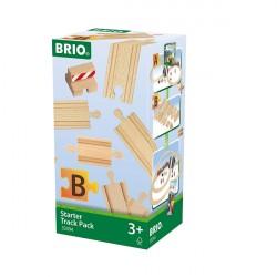 Startpakke, skinner, 13 dele - 33394 - BRIO togskinner