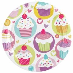 Stor paptallerken - Cupcakes (8 stk)