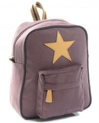 Stor rygsæk fra Smallstuff - Leather Star - Dark Rose