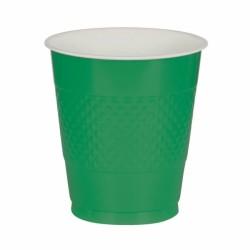 Store plastkrus - Festlig Grøn (10 stk)