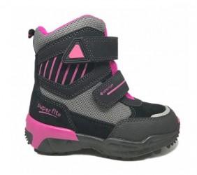 Superfit vinterstøvler, sort/pink