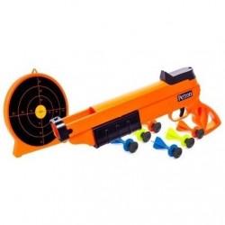 Sureshot Pistol + skydeskive til børn m/6 dartpile