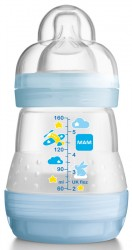 Sutteflaske fra MAM - Anti-kolik - 0m+ (160ml) - Cloud