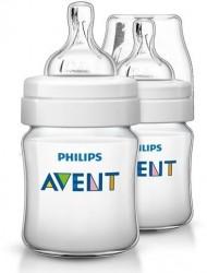 Sutteflaske fra Philips AVENT - PP - Classic+ - 0m+ (125ml) (2 stk)