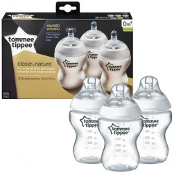 Sutteflaske fra Tommee Tippee - Closer to Nature 0m+ (3x260ml)