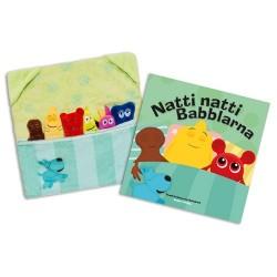 Teddykompaniet Babblarna pakke med bog og legetøj - Svensk
