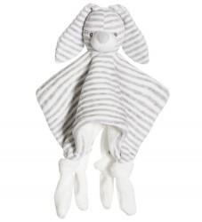 Teddykompaniet Nusseklud - Kanin - Grå/Hvidstribet