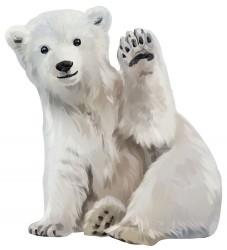 Thats Mine Wallsticker - 45x50 - Isbjørnen Oswald